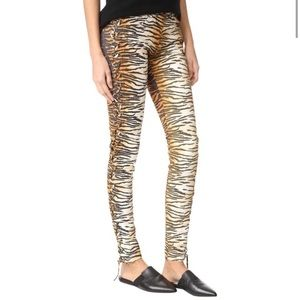 A.L.C. Lace Up Tiger Skinny Jeans